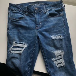American Eagle Stretch Ripped Jeans